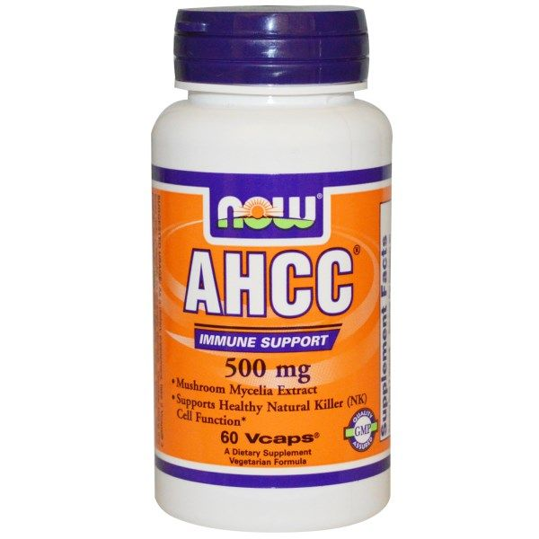 AHCC, Now Foods, 500 мг, 60 капсул