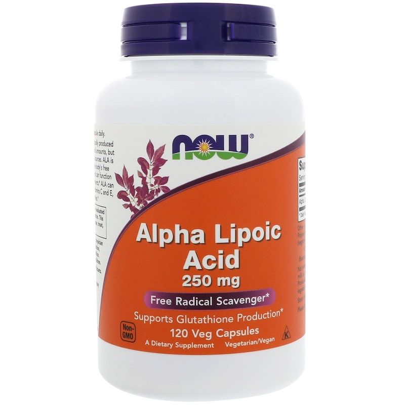 Альфа-липоевая кислота Alpha Lipoic Acid Now Foods 250 мг, 120 шт