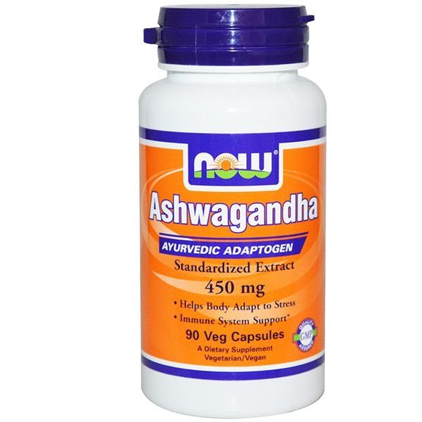 Ashwagandha, Ашваганда, Now Foods, 450 мг, 90 капсул