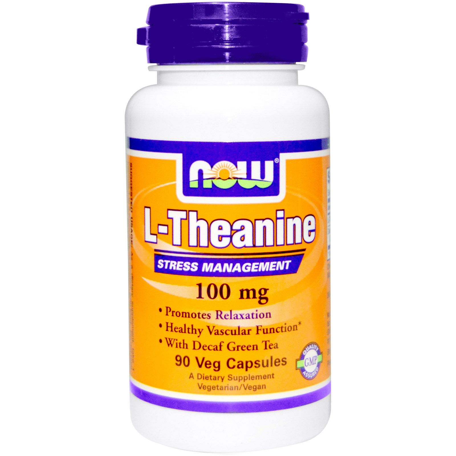 L-Theanine, L-Тианин, Now Foods, 100 мг, 90 капсул