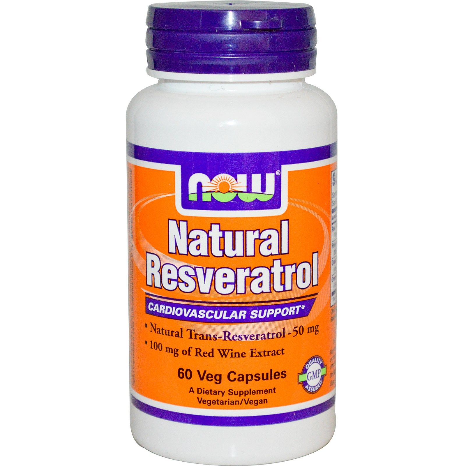 Natural Resveratrol, Ресвератрол, Витамин A, Витамин Е, Now Foods, 200 мг, 60 капсул