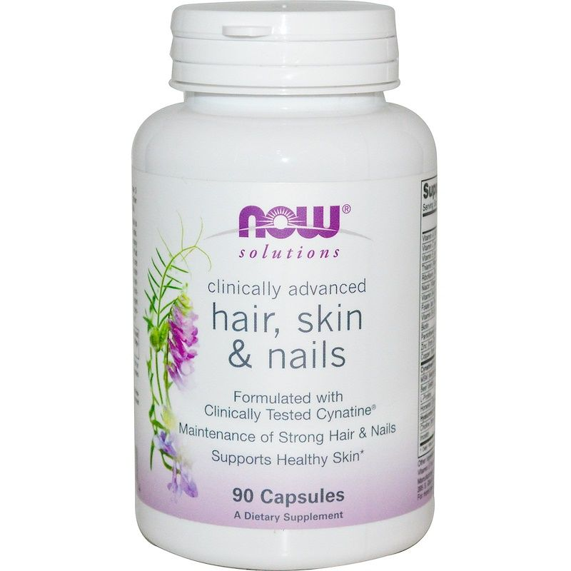 Дерма Клиникал Комплекс Hair, Skin & Nails Now Foods, 90 шт