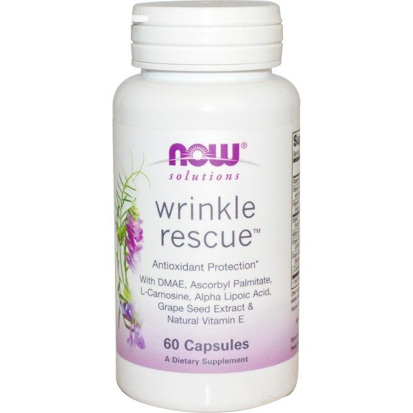 Wrinkle Rescue, Now Foods, 60 капсул