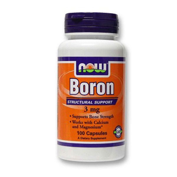 Boron, Бор, Now Foods, 3 мг, 100 капсул