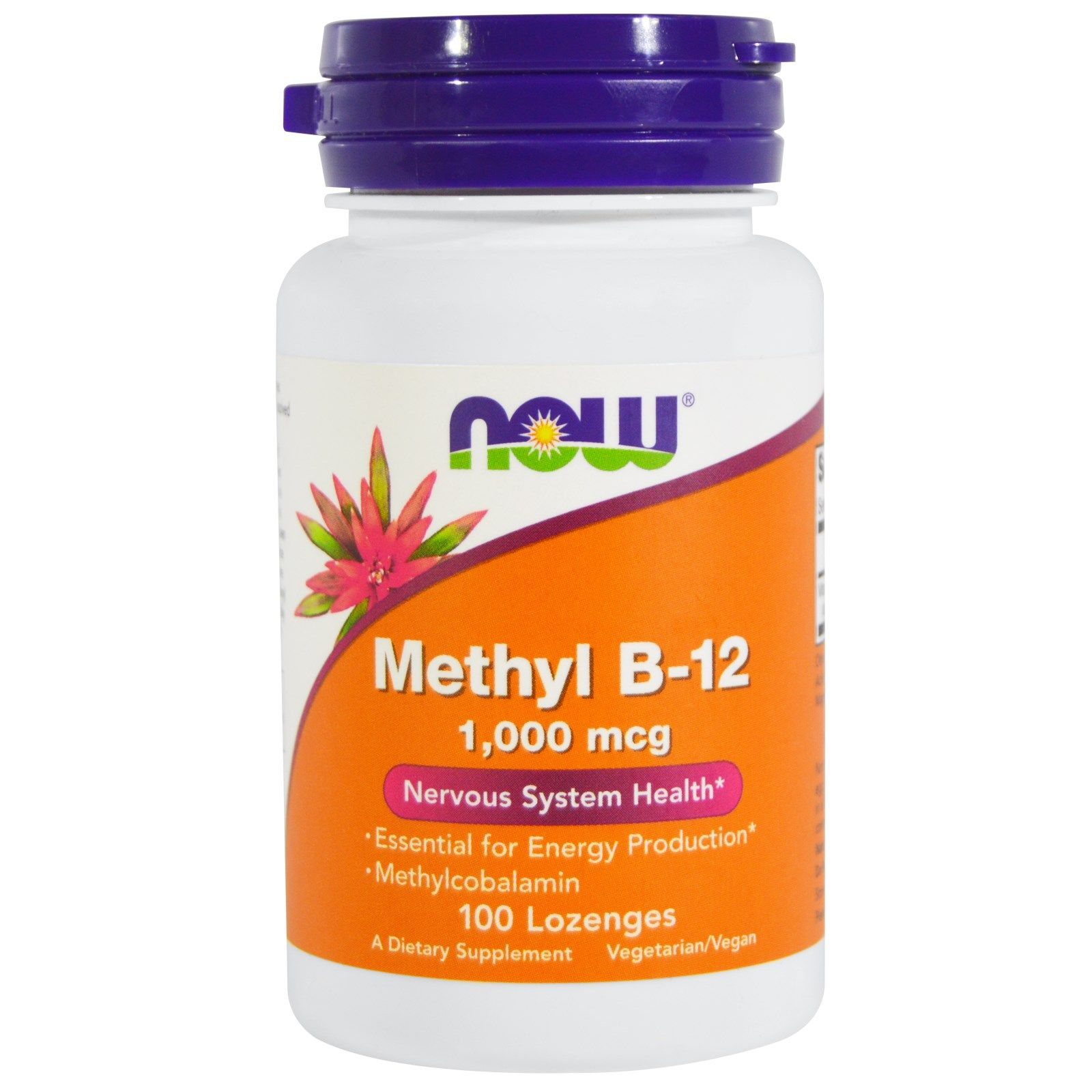 Метил B-12 Methyl B-12 Now Foods 1000 мкг, 100 пастилок