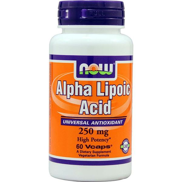 Alpha Lipoic Acid Альфа-липоевая кислота  Now Foods  250 мг, 60 капсул