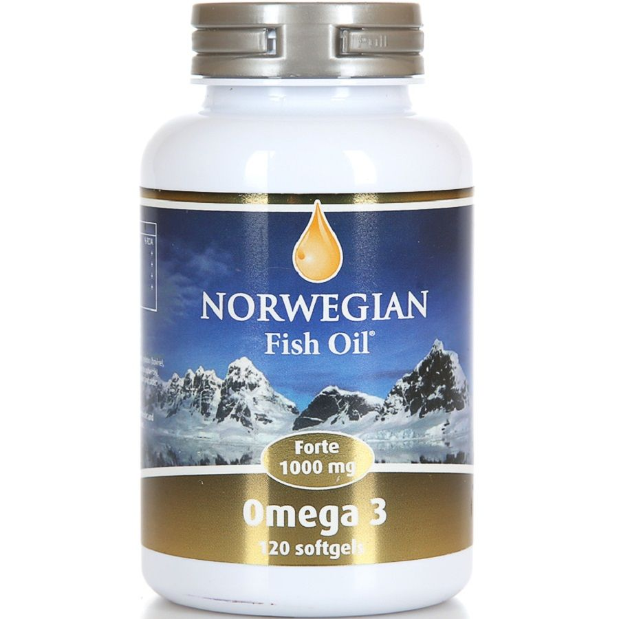 Омега-3 Форте Omega-3 Forte Norwegian Fish Oil 1384 мг, 120 капсул