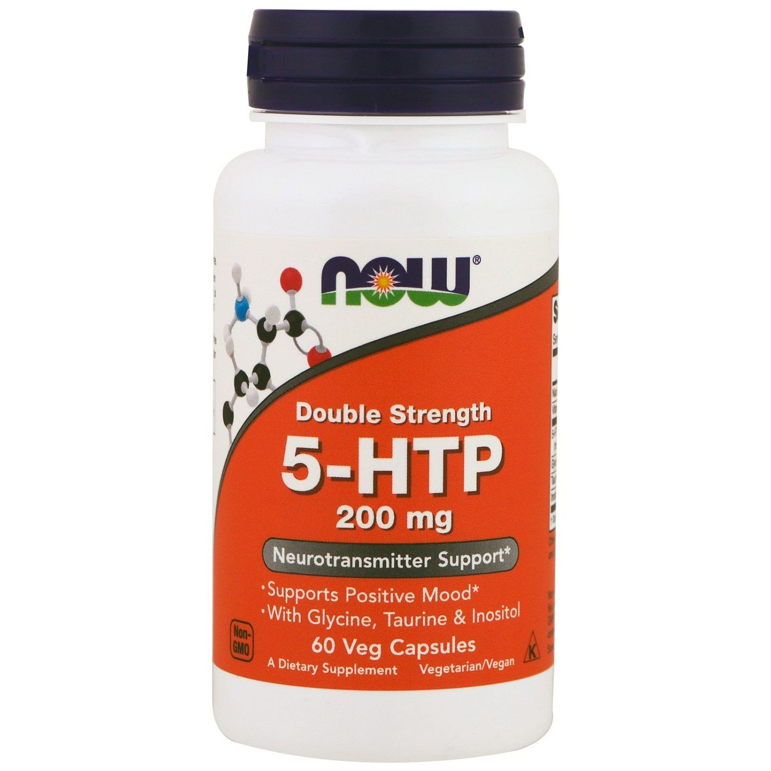 Now Foods, 5-HTP Neurotransmitter support 200 мг, 60 шт