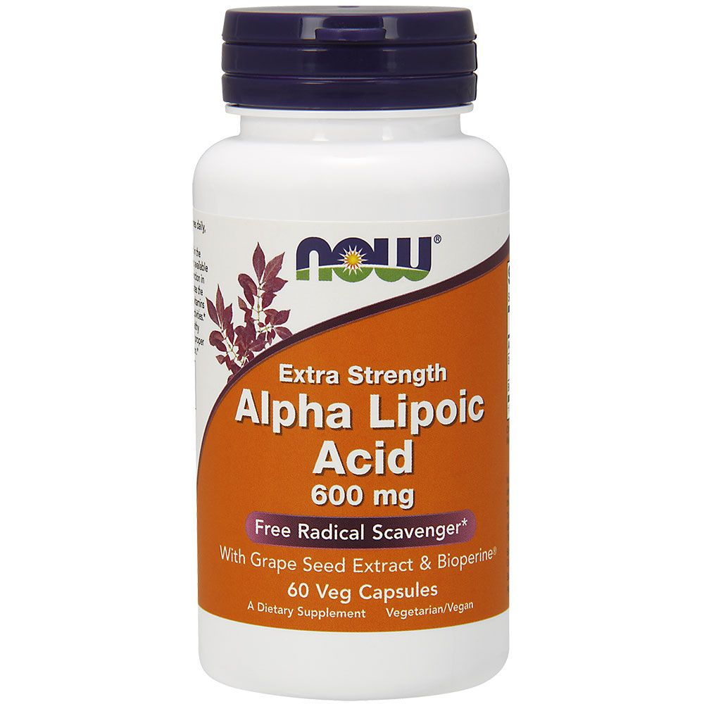 Альфа-липоевая кислота Alpha Lipoic Acid Now Foods 600 мг, 60 капсул