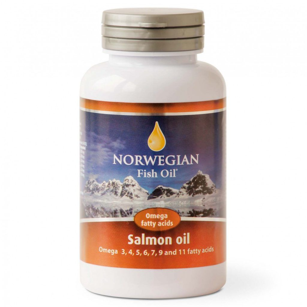 Омега-3 Масло лосося Salmon Oil Norwegian Fish Oil 745 мг, 120 капсул